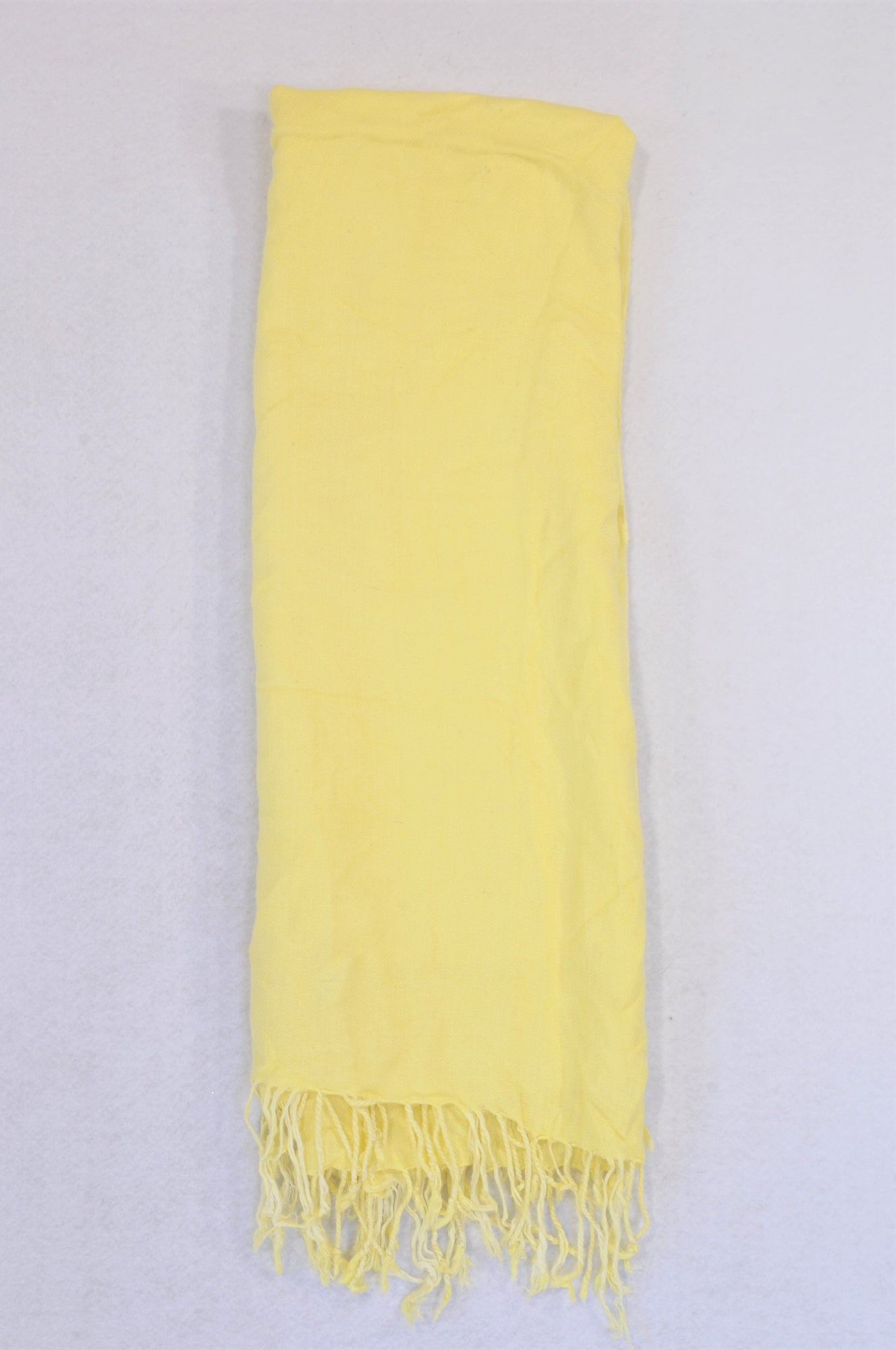 Unbranded Yellow Tassle Lightweight Scarf Women