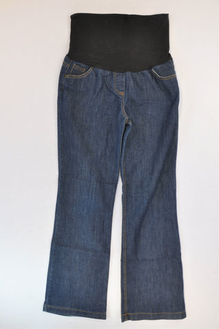 Cherrymelon Dark Stone Washed Wide Leg Maternity Jeans Size 34