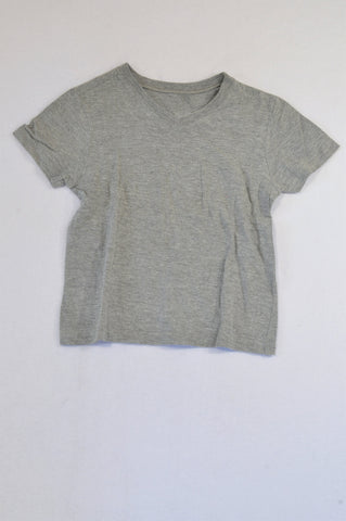 Woolworths Basic Grey V-Neck T-shirt Boys 4-5 years