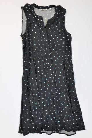 Country Road Black & Green Floral Lightweight Dress Women Size 10