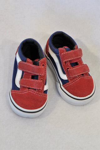 New Vans Size 4.5 Red & Blue Shoes Boys 12-18 months