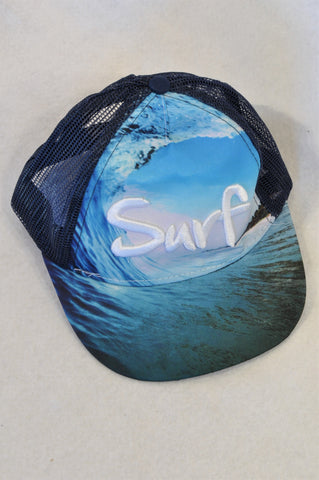 Unbranded Navy Mesh Surf Hat Unisex 1-3 years