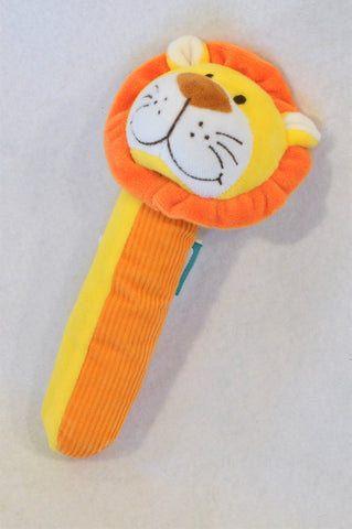 Fiesta Yellow & Orange Lion Rattle Unisex N-B to 1 year