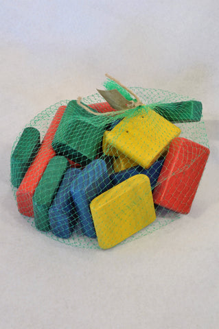 Unbranded Multi Colour Wooden Blocks Toys Unisex 6 months to 3 years