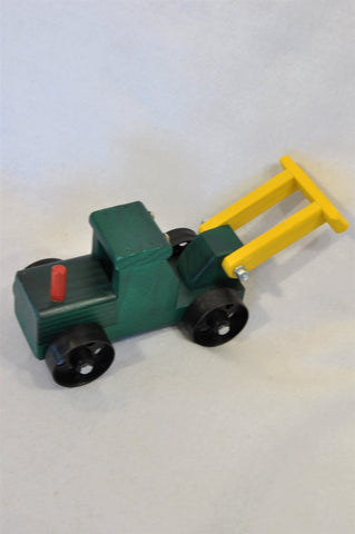 New Unbranded Green Bulldozer Wooden Toy Boys 3-10 years