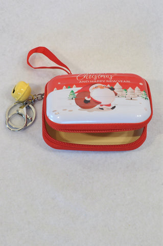 Unbranded Red Tin Christmas Hook On Purse Unisex 3+ years
