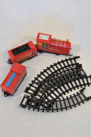 Unbranded 3 Piece Red & Black Train & Track Toys Boys 1-10 years