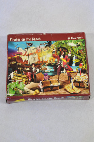 48 Piece Pirates On The Beach Puzzle Unisex 3-7 years