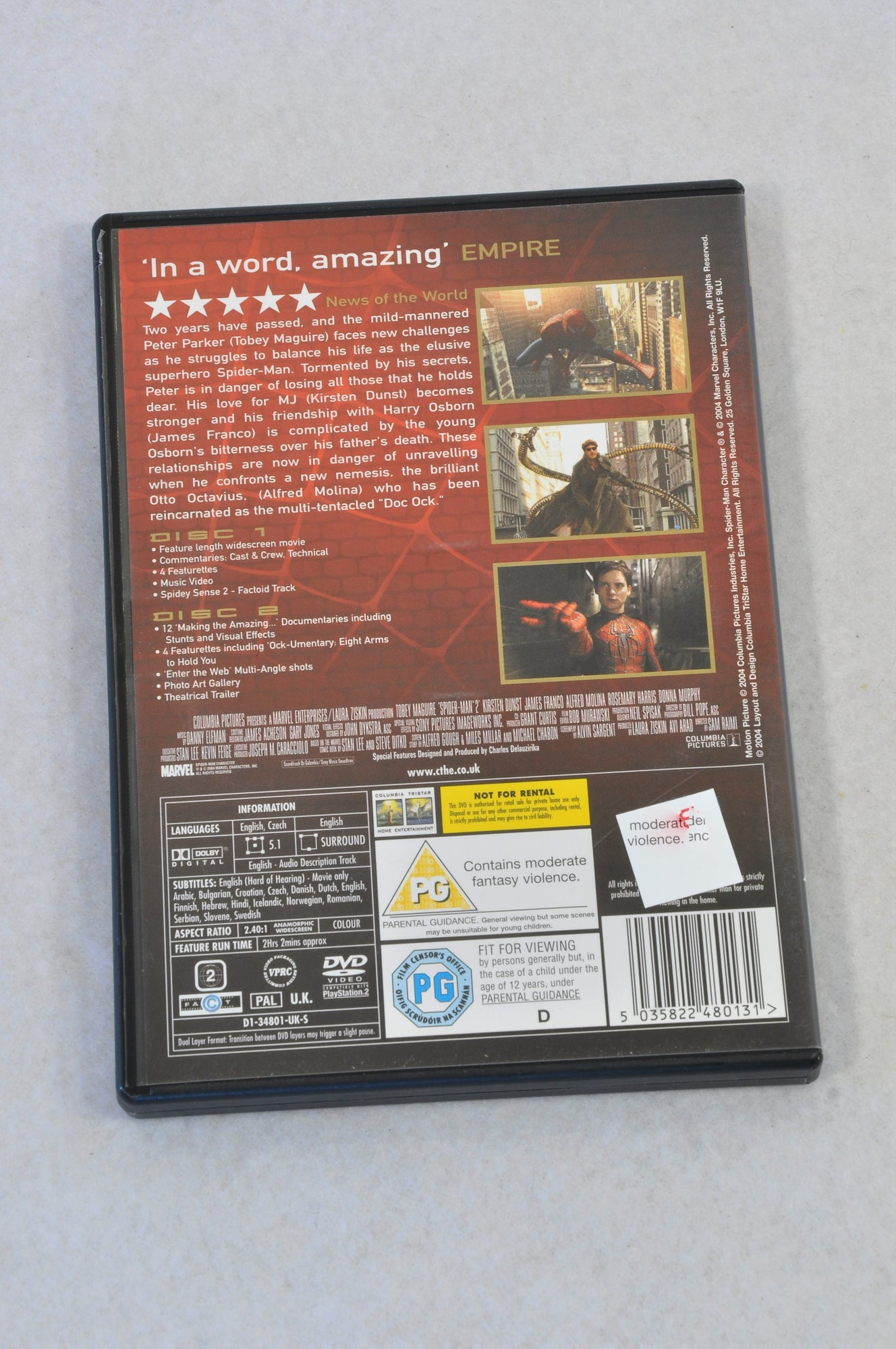 Columbia Spider-Man 2 DVD