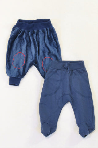 Ackermans 2 Pack Navy Corduroy & Cuffed Pants Boys N-B