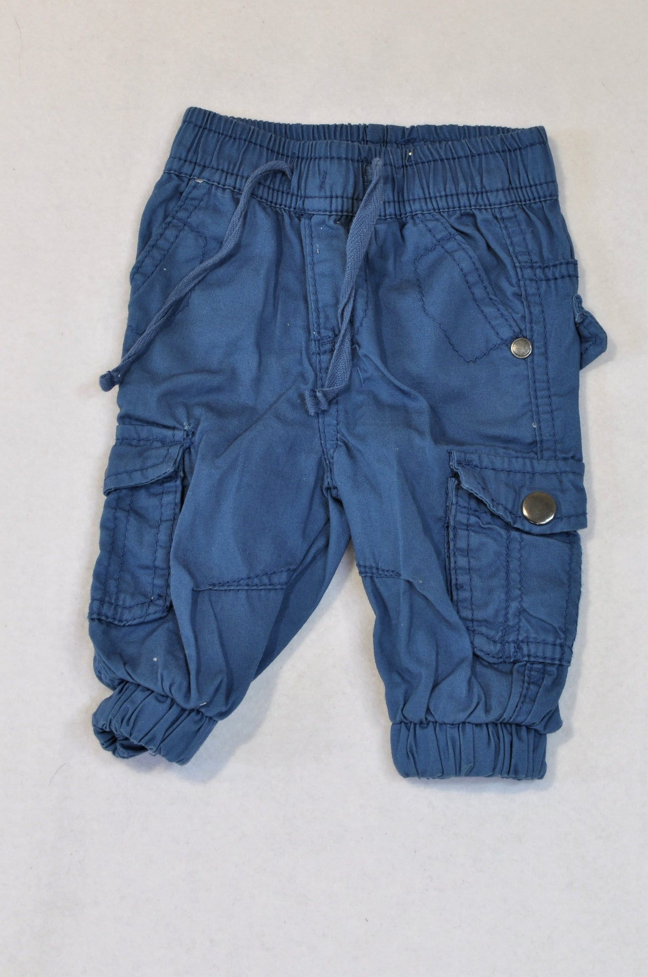 Edgars Navy Banded Cuffed Pants Boys 0-3 months