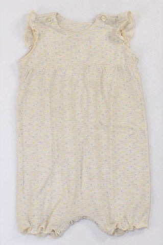 Pick 'n Pay Multi-colour Dotted Beige Frill Romper Girls 12-18 months