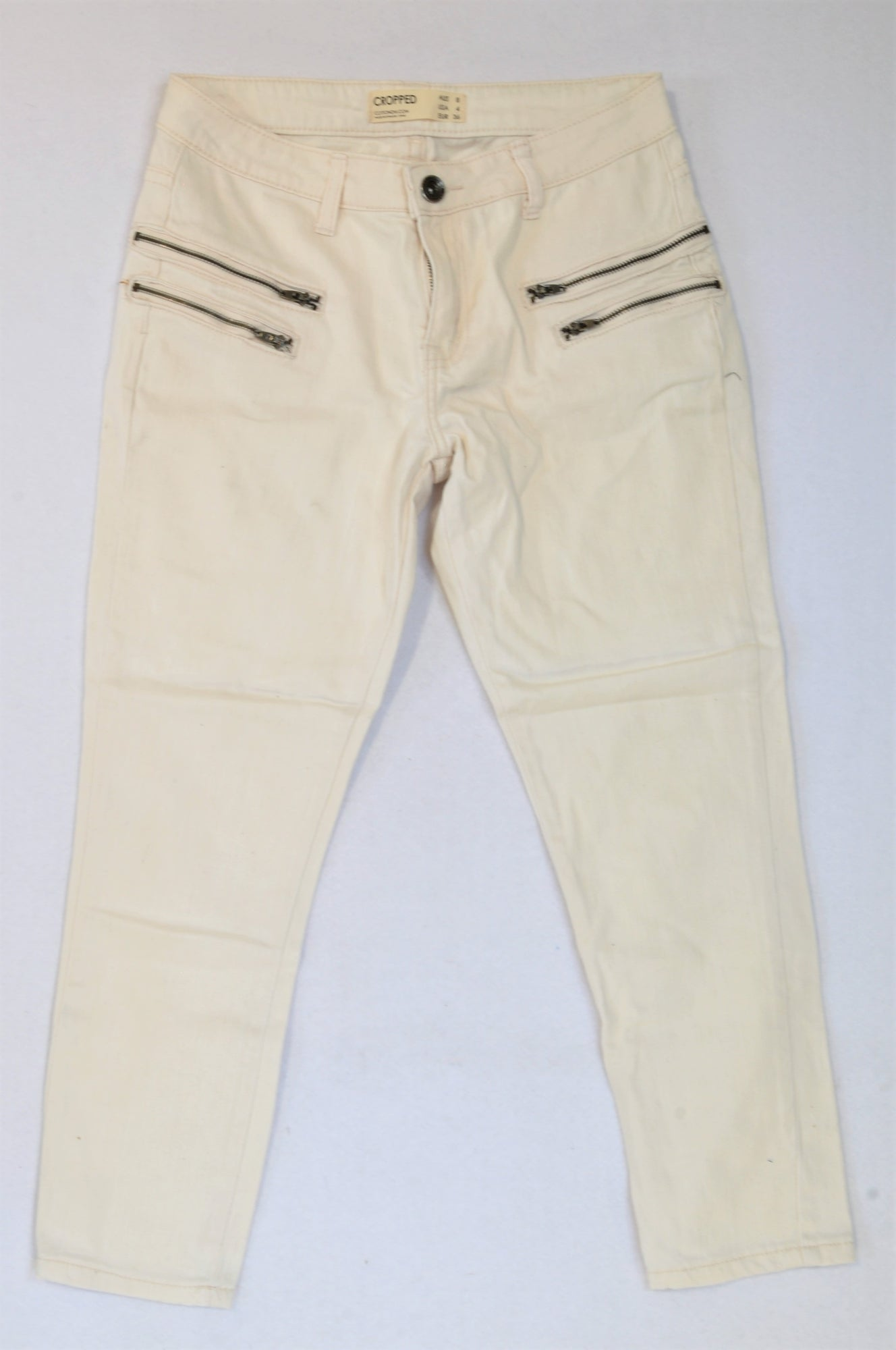 Cotton On Soft Pink Cropped Jeans Women Size 8