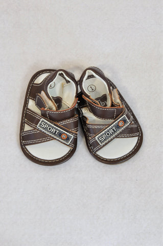 Ackermans Size 1 Brown Sport Sandals Boys 3-6 months