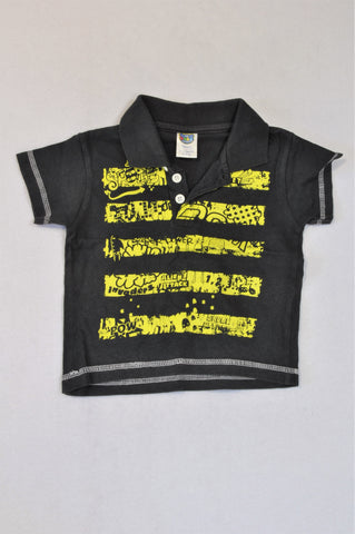 Ackermans Dusty Black Alien Attack Golf T-shirt Boys 6-12 months