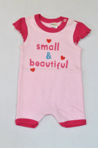 Edgars Pink Small & Beautiful Romper Girls 3-6 months