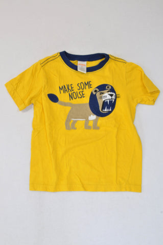 Gymboree Yellow Lion Make Some Noise T-shirt Boys 2-3 years