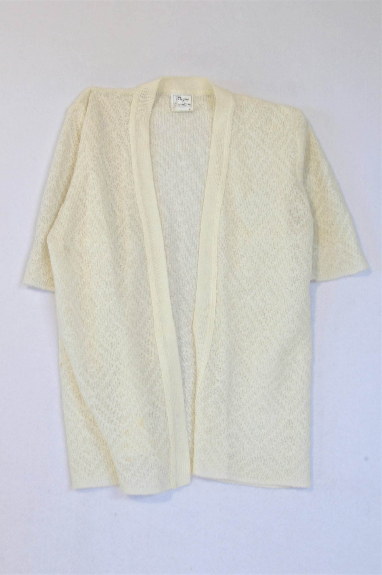 Payne Creations Ivory Knit Cardigan Women Size S