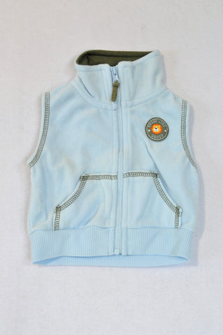 Carter's Light Blue Fleece Lion Body Warmer Boys 0-3 months
