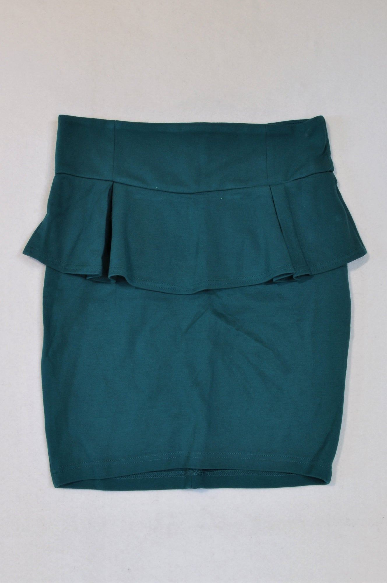 Cotton On Green Peplum Frill Skirt Women Size M