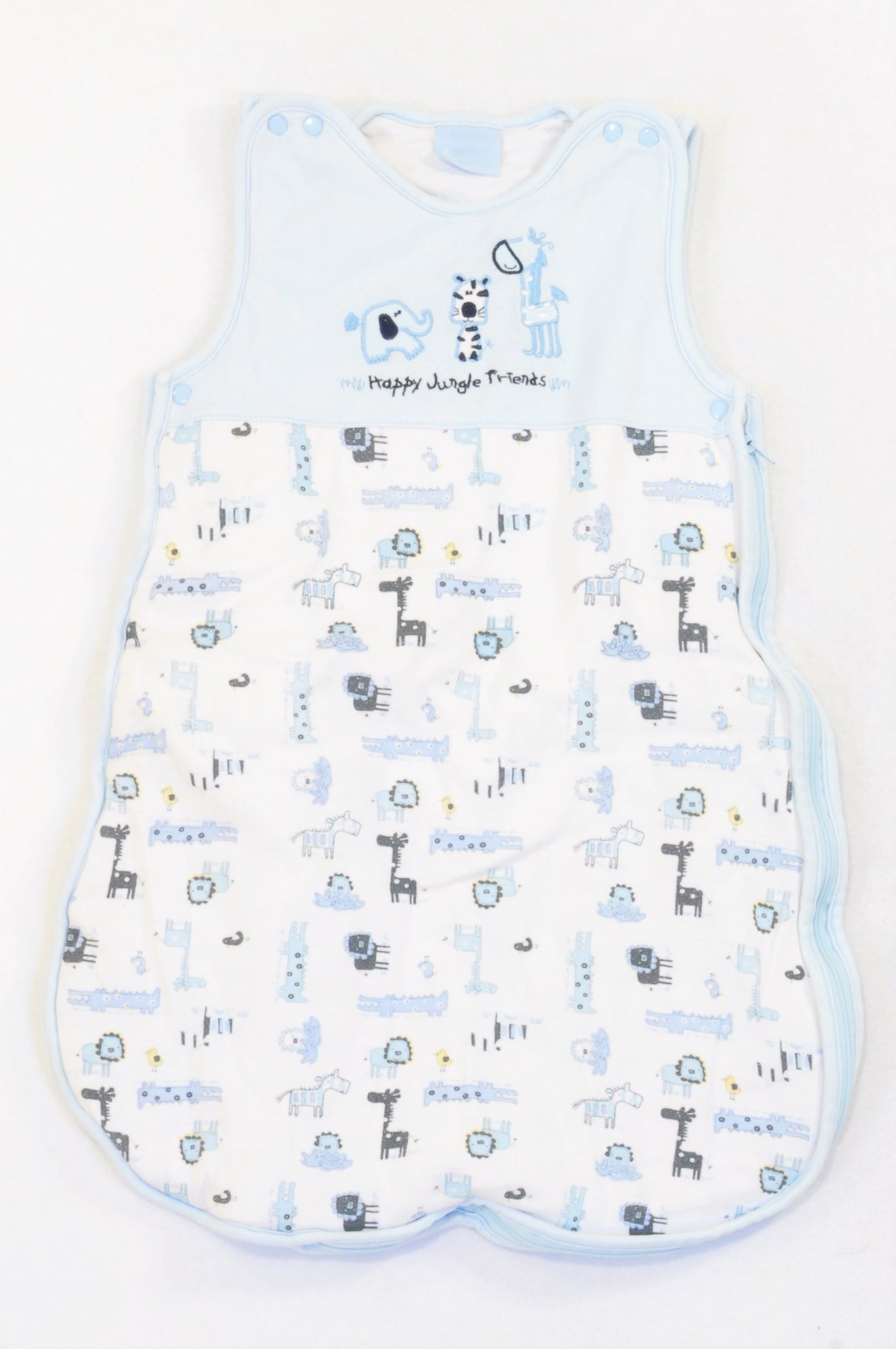 Bebe Bonito Soft Blue Medium Weight Happy Jungle Friends Sleep Sack Boys 0-6 months