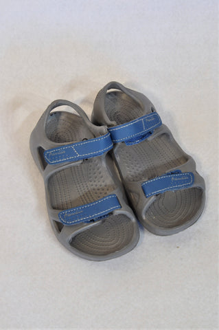 Unbranded Size 11 Grey & Blue Sandals Unisex 4-5 years