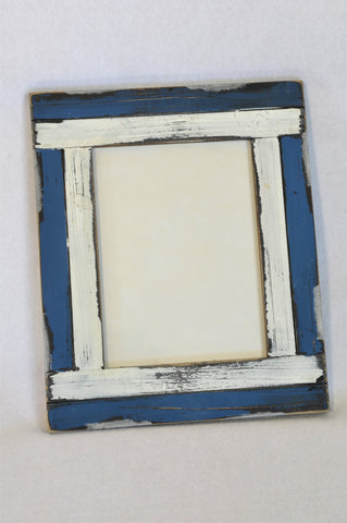 Unbranded Blue & White Painted Photo Frame Accessory Women