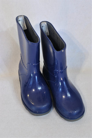 Woolworths Size 9 Blue Rain Boots Unisex 3-4 years
