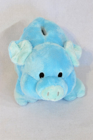 Unbranded Blue Piggy Bank Soft Toy Unisex 1-10 years