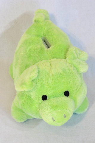 Unbranded Green Piggy Bank Soft Toy Unisex 1-10 years