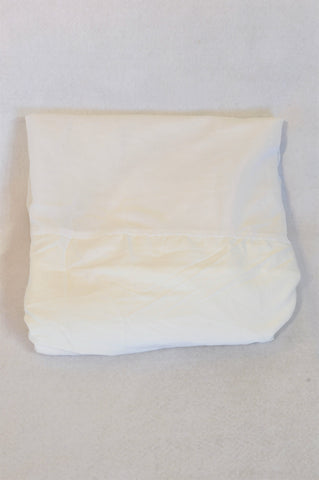 Unbranded Basic White Single Bed Night Frill Sheet Unisex All Ages