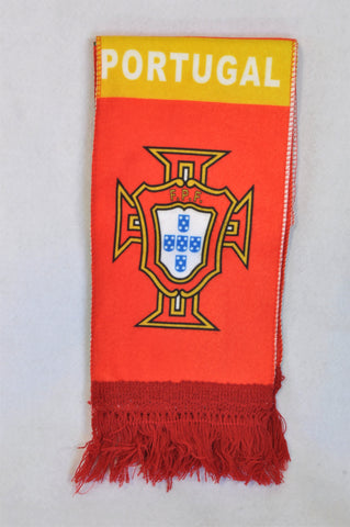 New Unbranded Green & Red Portugal Scarf Unisex 1-10 years