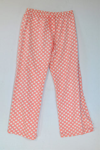 Woolworths Peach Polka Dotted Winter Pyjama Pants Women Size S