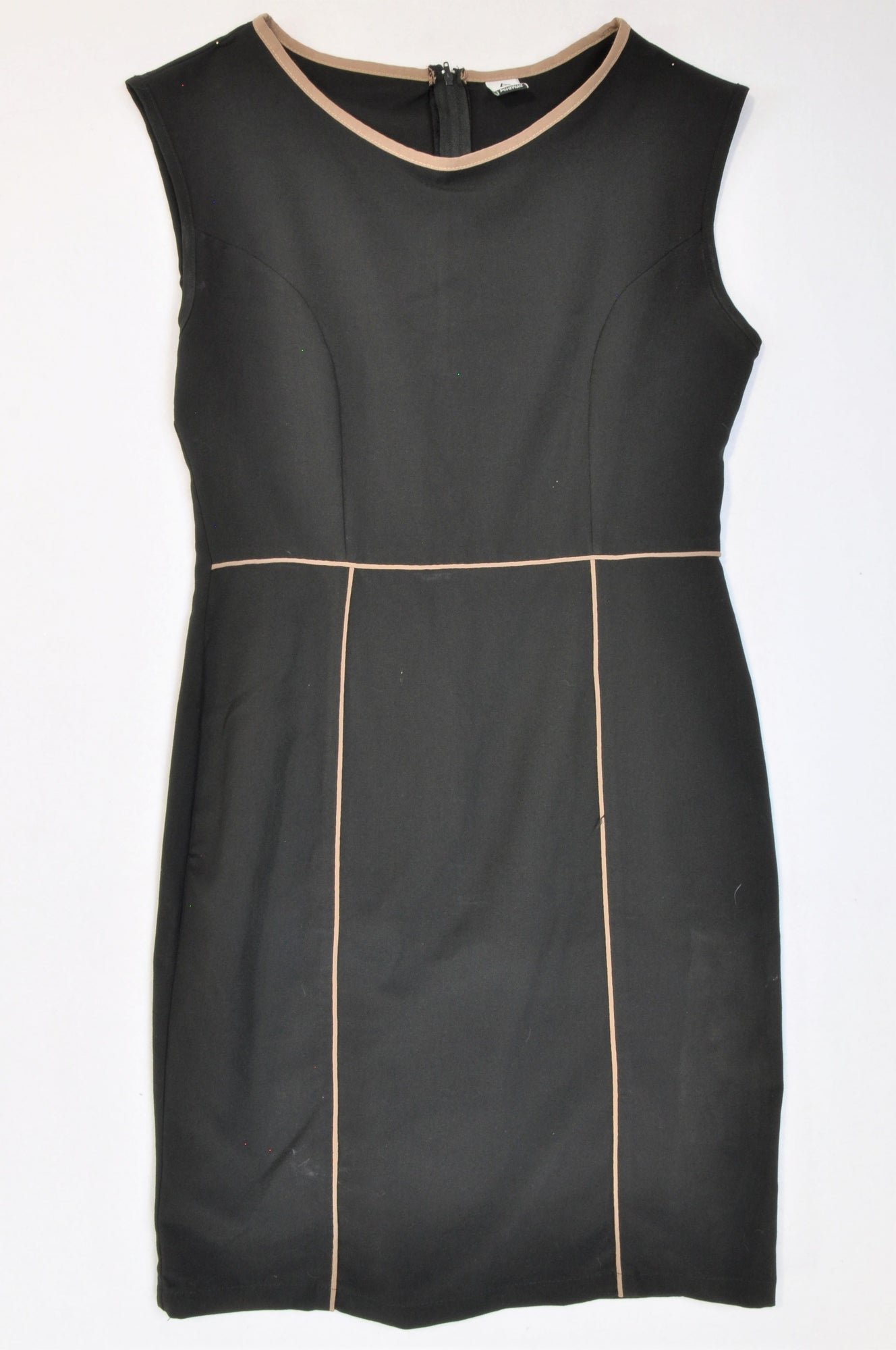 Avenue Black Brown Trim Office Dress Women Size 36
