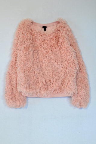 Art Basics Pink Shaggy Pullover Top Girls 10-12 years