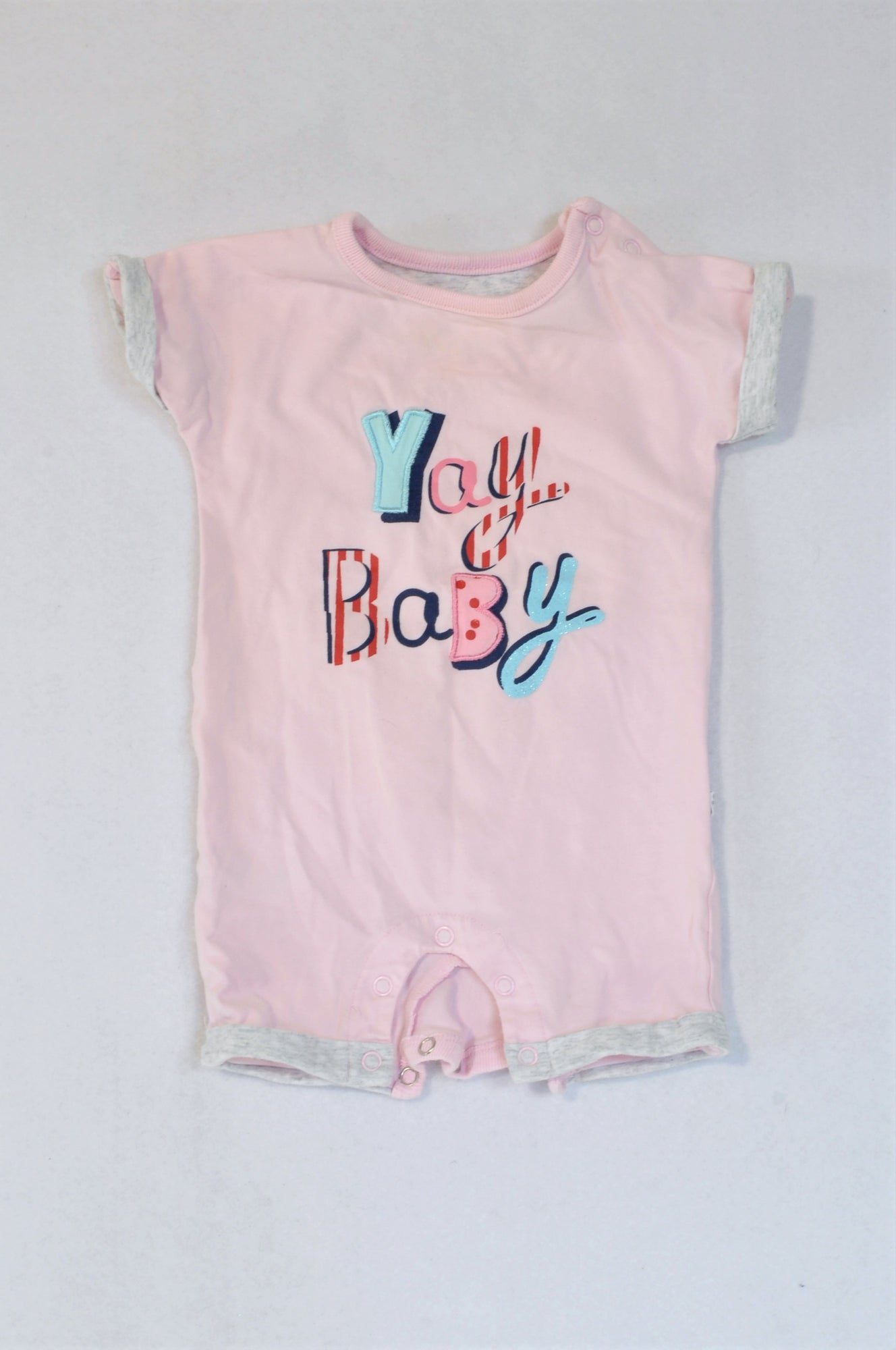 Woolworths Pink Yay Baby Romper Girls 0-3 months