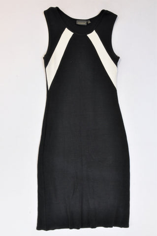 Atmosphere Black & White Panel Dress Women Size 6