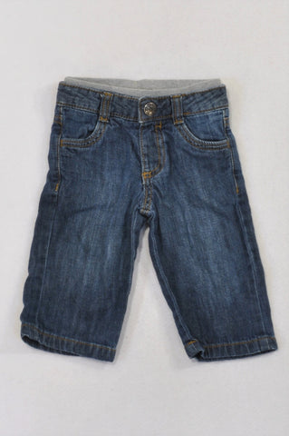 Old Navy Banded Straight Leg Jeans Boys 3-6 months