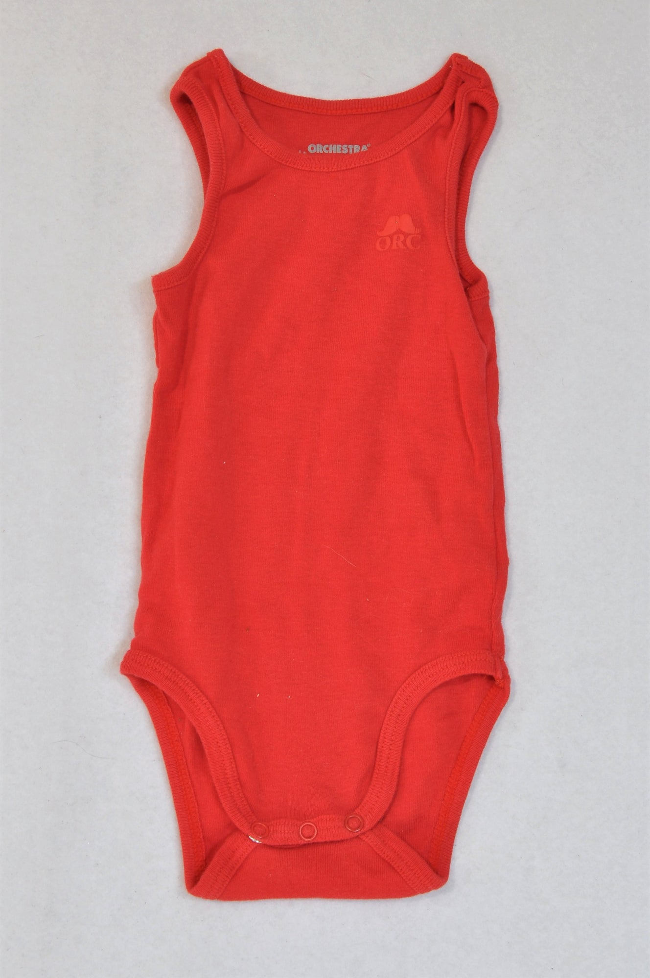 Orchestra Basic Red Logo Baby Grow Unisex 3-6 months