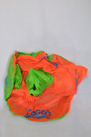 Zoggs Orange & Green Trainer Seat Swimwear Unisex 6 months-2 years