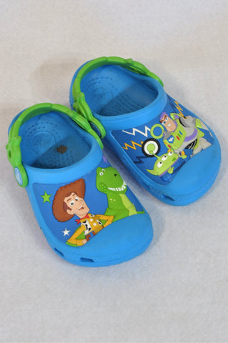 Crocs Size 5/6 Blue Toy Story Shoes Unisex 18 months to 3 years