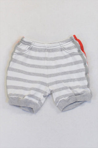 Woolworths Grey Stripe Harem Shorts Boys 6-12 months