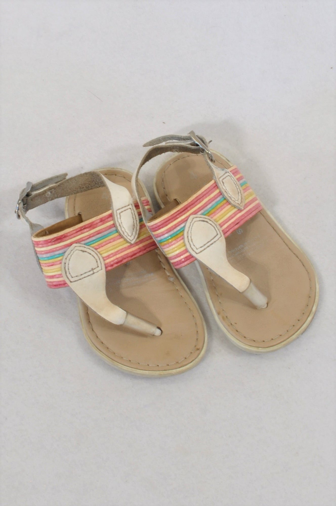 54621887a3d Woolworths Size 4 Rainbow Color Sandals Girls 12-18 months