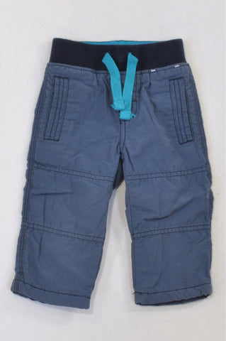 Gymboree Dusty Blue Fleece Lined Banded Pants Boys 6-12 months