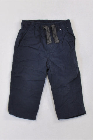 Gymboree Navy Fleece Lined Cargo Pants Boys 6-12 months