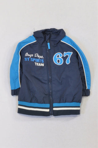 Navy & Blue 67 Rain Jacket Girls 6-9 months