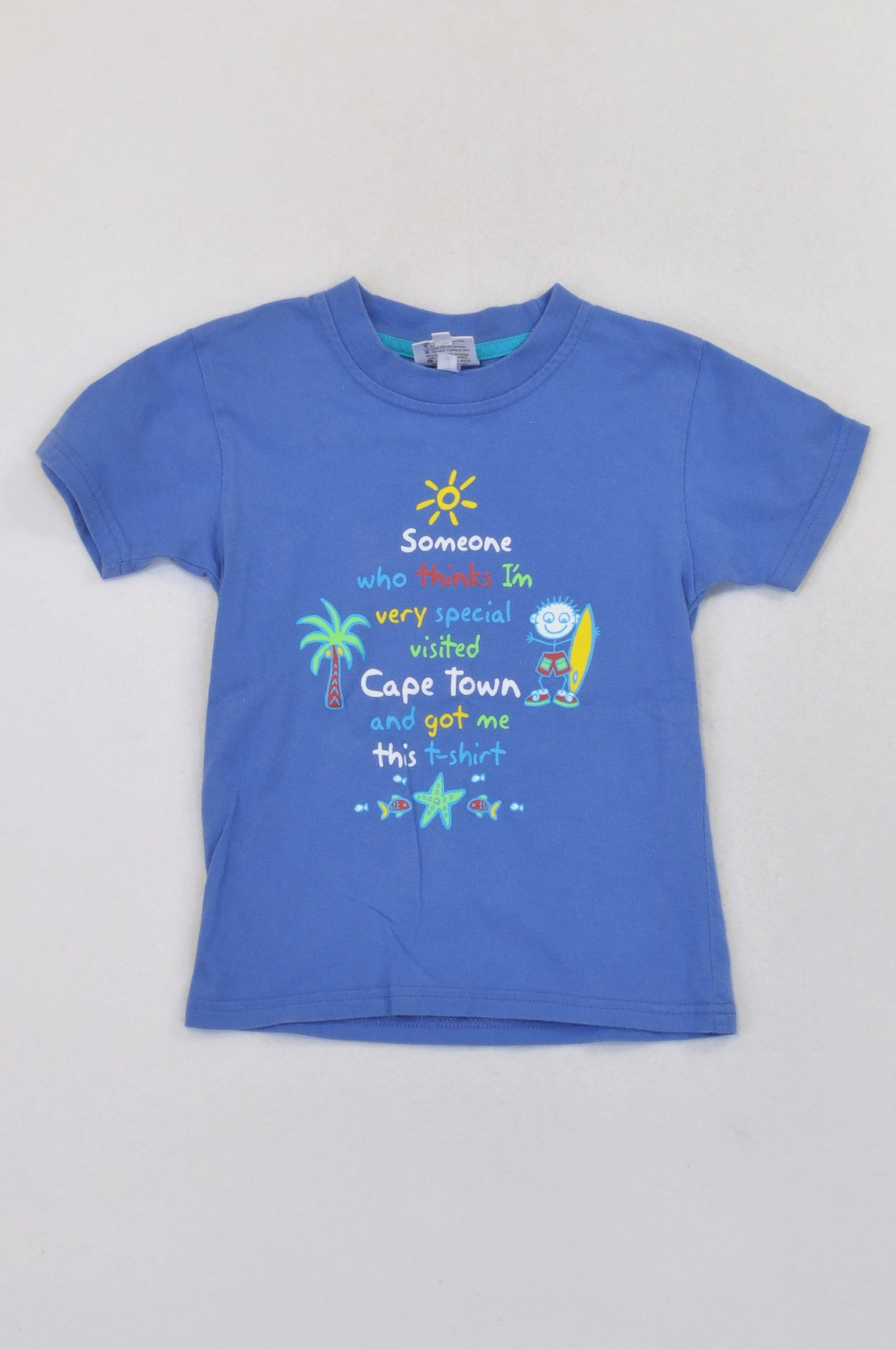 Love Capetown Dusty Blue Cape Town Surfing T-shirt Boys 4-5 years