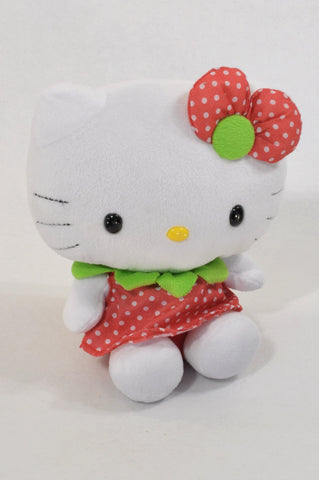 Red Dotty Hello Kitty Plush Toy Girls All Ages
