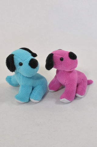 2 Pack Puppies Blue & Purple Fleece Toys Unisex All Ages