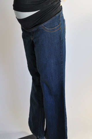 Cherrymelon Blue Denim Wide Leg Maternity Jeans Size 14